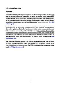 1-E. Asbestos Substitutes