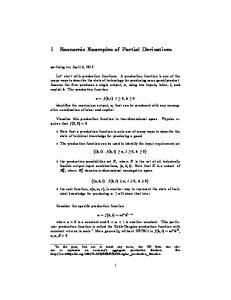 1 Economic Examples of Partial Derivatives