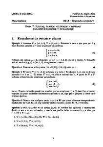 1. Ecuaciones de rectas y planos