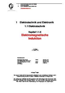 1 Elektrotechnik und Elektronik 1.1 Elektrotechnik