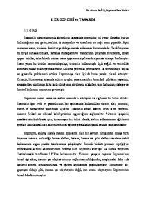 1. ERGONOMİ ve TASARIM