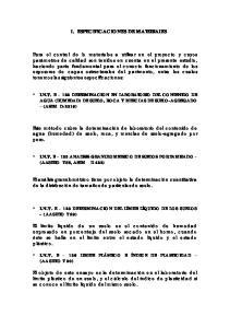 1. ESPECIFICACIONES DE MATERIALES