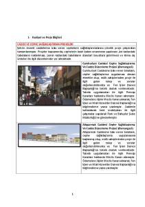 1- Faaliyet ve Proje Bilgileri
