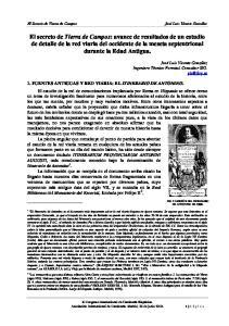 1. FUENTES ANTIGUAS Y RED VIARIA: EL ITINERARIO DE ANTONINO
