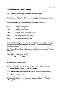 1. Funktionen einer reellen Variablen