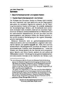 1. Geschichtswissenschaft und digitale Medien