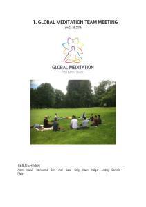 1. GLOBAL MEDITATION TEAM MEETING
