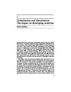 1 Globalization and liberalization: The impact on developing countries