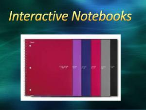 1. How many of you have heard of an Interactive Notebook? 2. Have you used an Interactive Notebook?