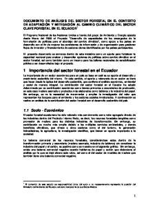 1 Importancia del sector forestal en el Ecuador