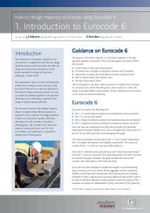 1. Introduction to Eurocode 6