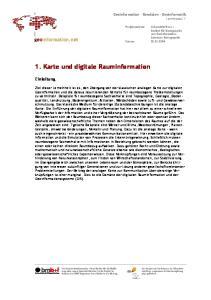 1. Karte und digitale Rauminformation