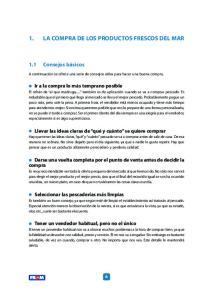 1. LA COMPRA DE LOS PRODUCTOS FRESCOS DEL MAR