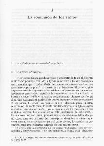 1. La Iglesia como comunidad eucar stica. El sentido originario