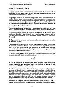 1.- LA OFERTA AGREGADA