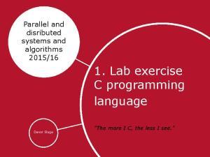 1. Lab exercise C programming language