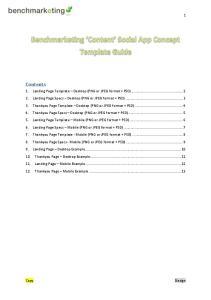 1. Landing Page Template Desktop (PNG or JPEG format + PSD)