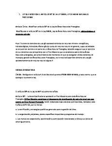 1. LEY QUE MODIFICA EL ARTICULO 20 DE LA LEY 26834, LEY DE AREAS NATURALES PROTEGIDAS