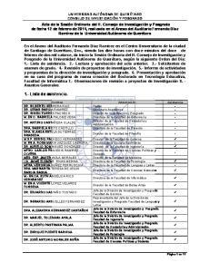 1.- Lista de asistencia