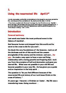 1. Living the resurrected life