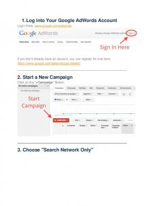 1. Log into Your Google AdWords Account
