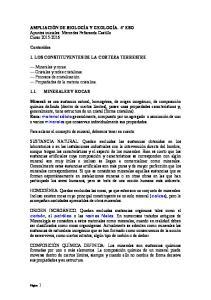 1. LOS CONSTITUYENTES DE LA CORTEZA TERRESTRE
