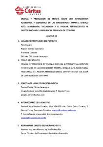 1. LUGAR DE INTERVENCION DEL PROYECTO