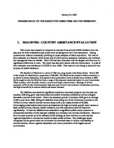 1. MALDIVES - COUNTRY ASSISTANCE EVALUATION