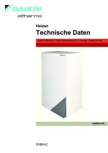 1 Merkmale Technische Daten... 3 Technische Daten... 3 Elektrische Daten Elektrische Daten... 6 Daten Elektrik... 6