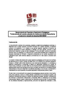 1. Micro-Talleres de Documentación de procesos y experiencias pedagógicas