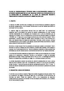 1.- OBJETO. 2. REQUISITOS LEGALES APLICABLES