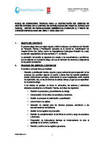 1.- OBJETO DEL CONTRATO