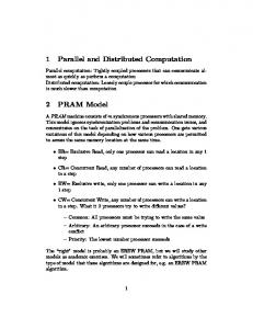 1 Parallel and Distributed Computation