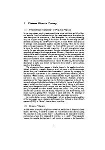 1 Plasma Kinetic Theory