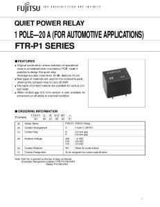 1 POLE 20 A (FOR AUTOMOTIVE APPLICATIONS)