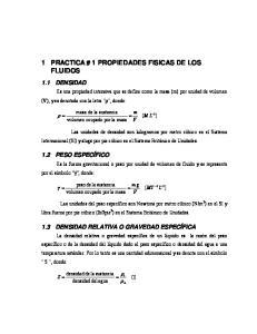 1 PRACTICA # 1 PROPIEDADES FISICAS DE LOS FLUIDOS