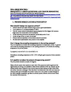 1. PRIMER DESIGN AND REACTION SETUP