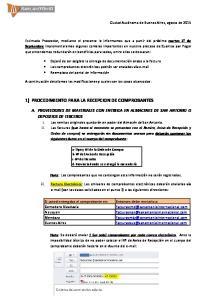 1) PROCEDIMIENTO PARA LA RECEPCION DE COMPROBANTES