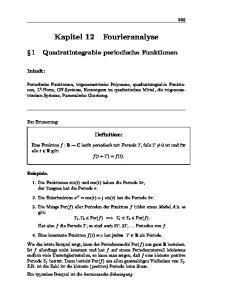 1 Quadratintegrable periodische Funktionen