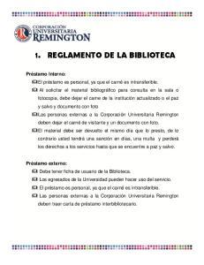1. REGLAMENTO DE LA BIBLIOTECA