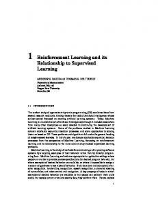 1 Reinforcement Learning and its