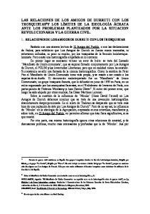 1.- RELACIONES DE LOS AMIGOS DE DURRUTI CON LOS TROSQUISTAS