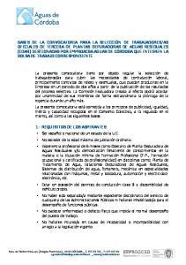 1.- REQUISITOS DE LOS ASPIRANTES