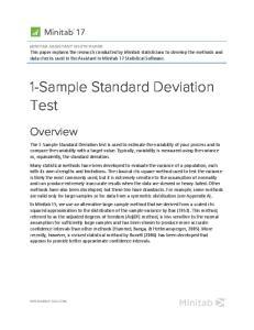 1-Sample Standard Deviation Test