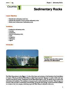1 Sedimentary Rocks CHAPTER.  Chapter 1. Sedimentary Rocks. Lesson Objectives