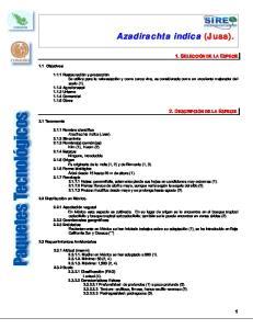 1. SELECCIÓN DE LA ESPECIE 2. DESCRIPCIÓN DE LA ESPECIE. 1.1 Objetivos