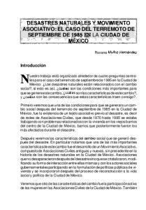 1 SEPTIEMBRE DE 1985 EN LA CIUDAD DE
