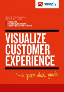 1 SERVICE DESIGN MANUAL VERSION PERSONAS STAKEHOLDER MAPS CUSTOMER JOURNEY MAPS VISUALIZE CUSTOMER EXPERIENCE