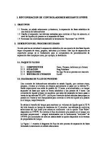 1. SINTONIZACION DE CONTROLADORES MEDIANTE HYSYS