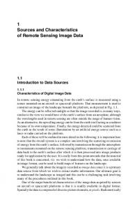 1 Sources and Characteristics of Remote Sensing Image Data